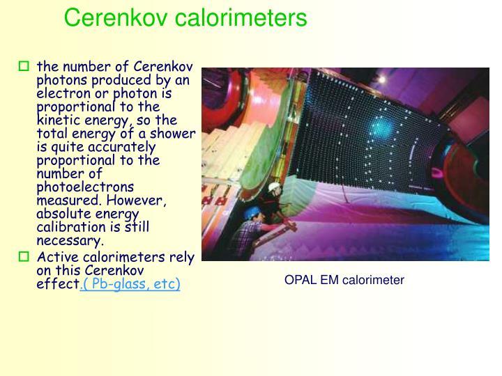 Cerenkov calorimeters