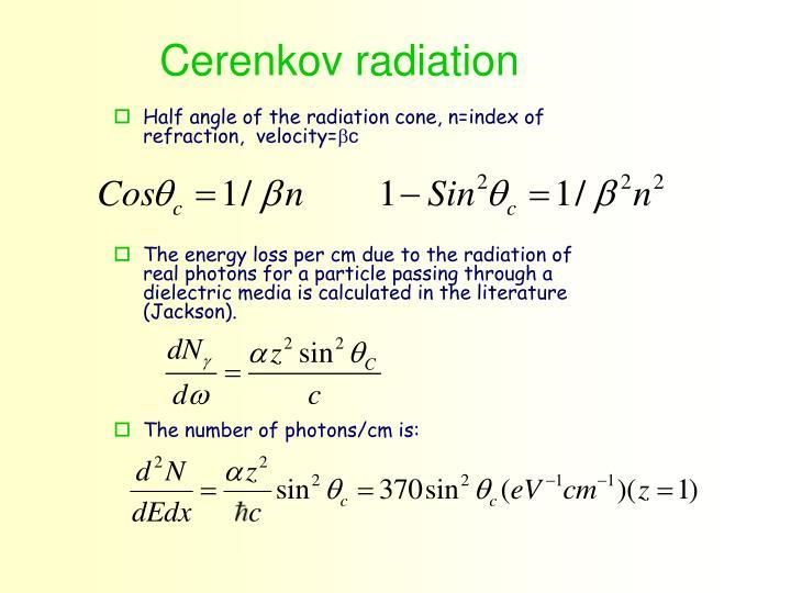 Cerenkov radiation