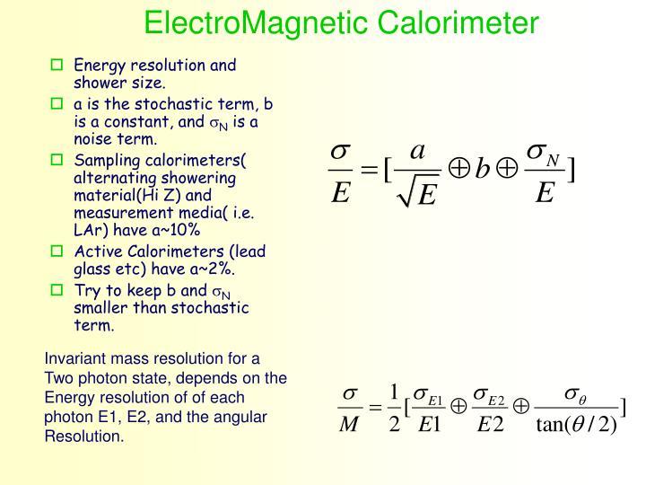 ElectroMagnetic Calorimeter