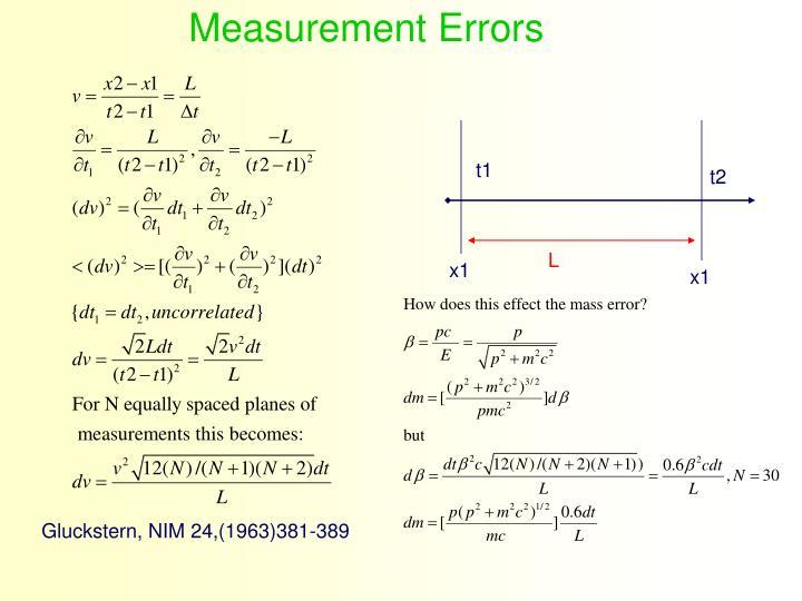 Measurement Errors