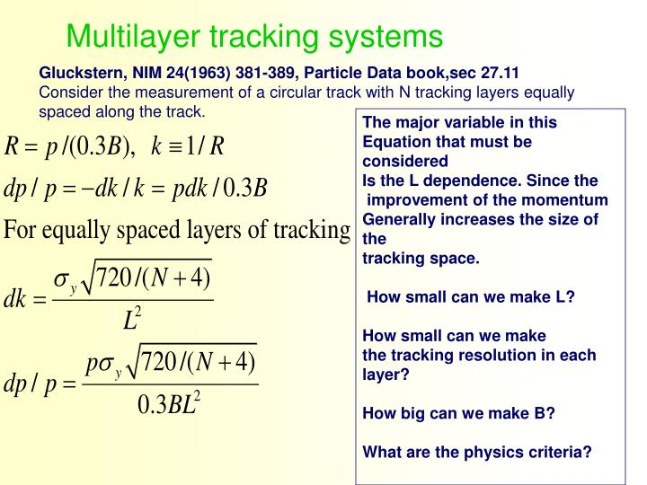 Multilayer tracking systems