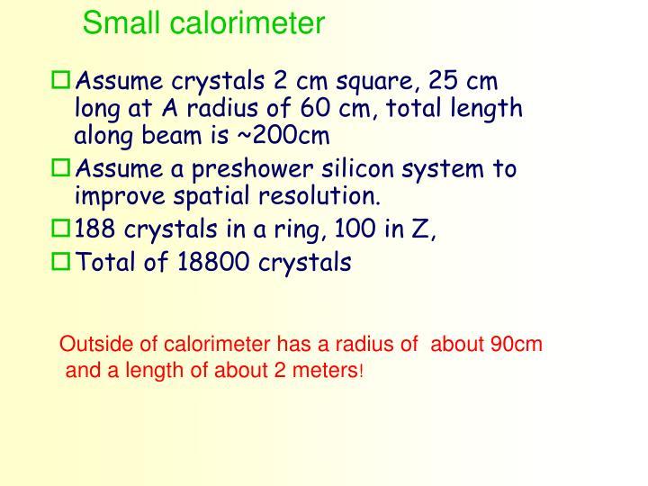 Small calorimeter
