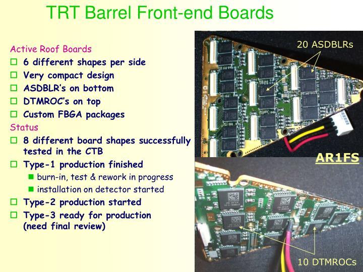 TRT Barrel Front-end Boards