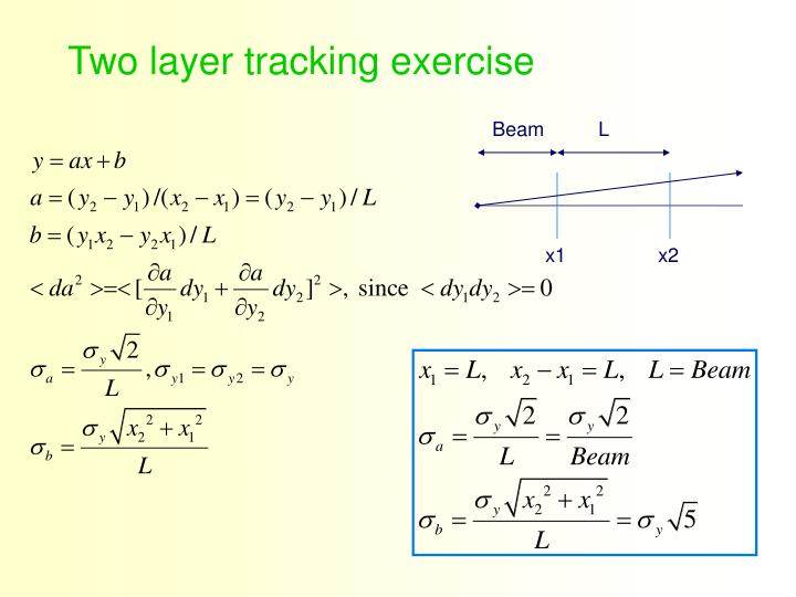 Two layer tracking exercise