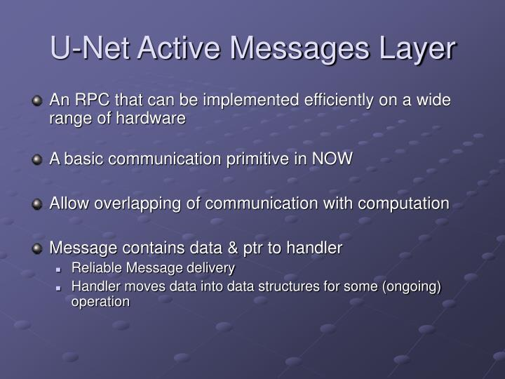 U-Net Active Messages Layer