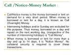 call notice money market