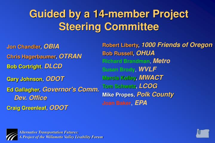 Guided by a 14-member Project