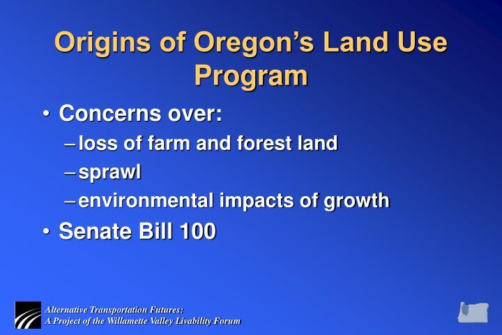 Origins of Oregon's Land Use Program