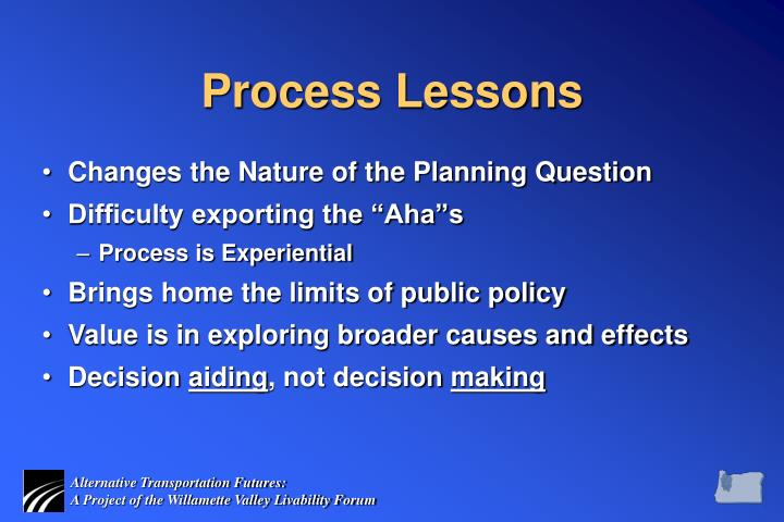 Process Lessons