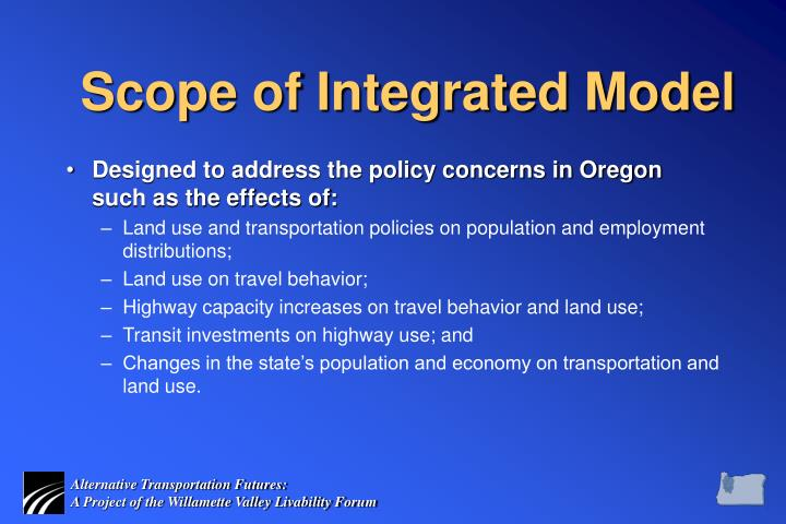 Scope of Integrated Model