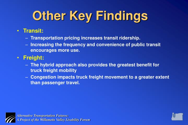 Other Key Findings