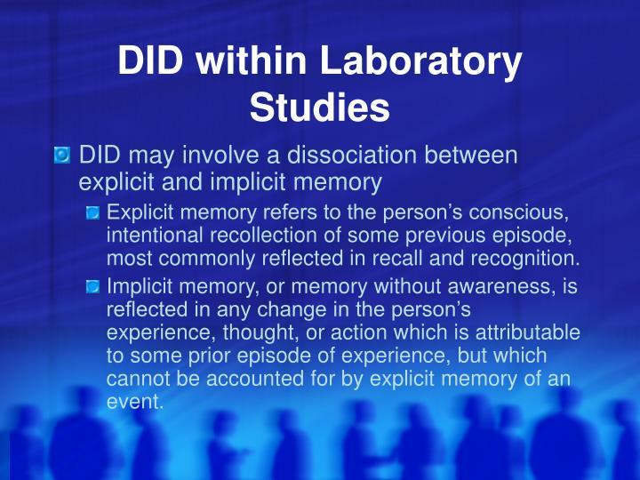 DID within Laboratory Studies
