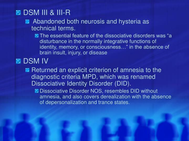 DSM III & III-R