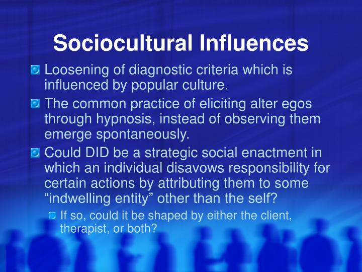 Sociocultural Influences