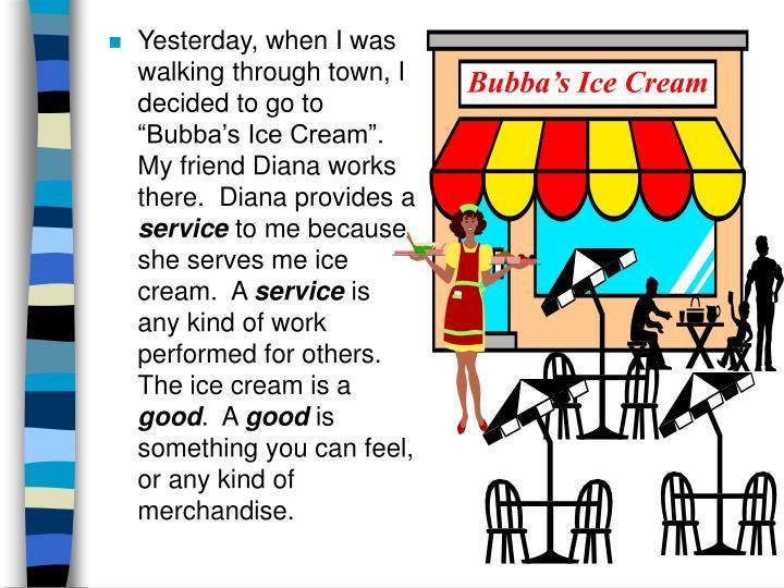 Bubba's Ice Cream