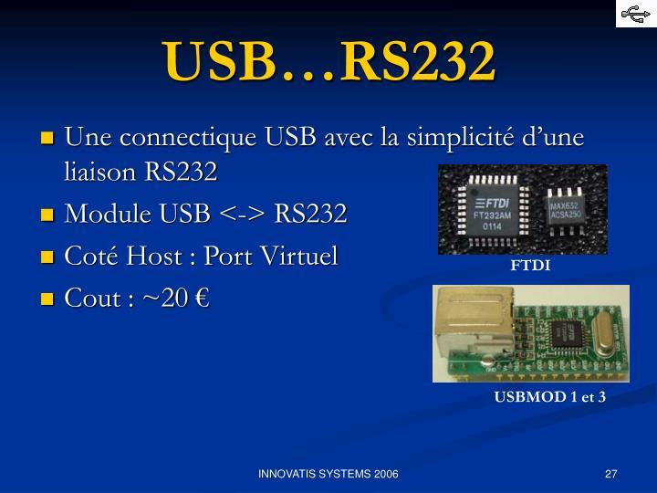 USB…RS232