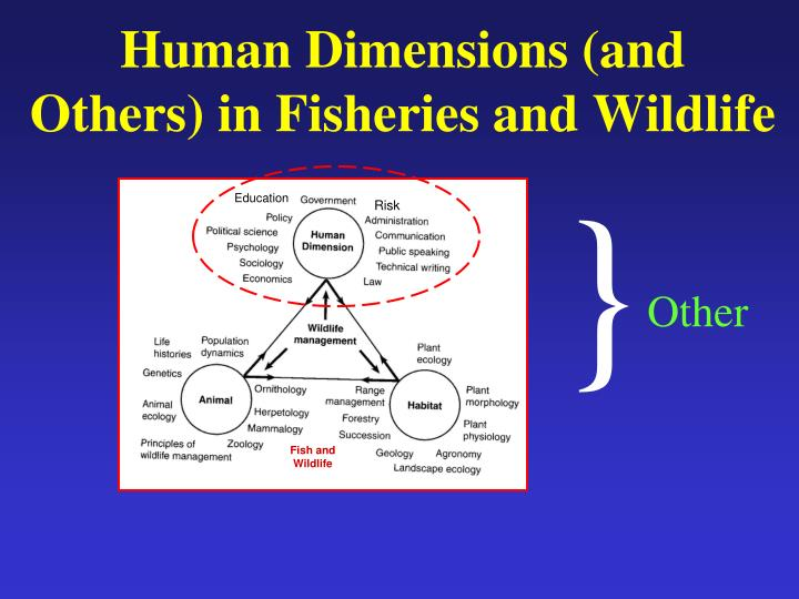 Human dimensions and others in fisheries and wildlife