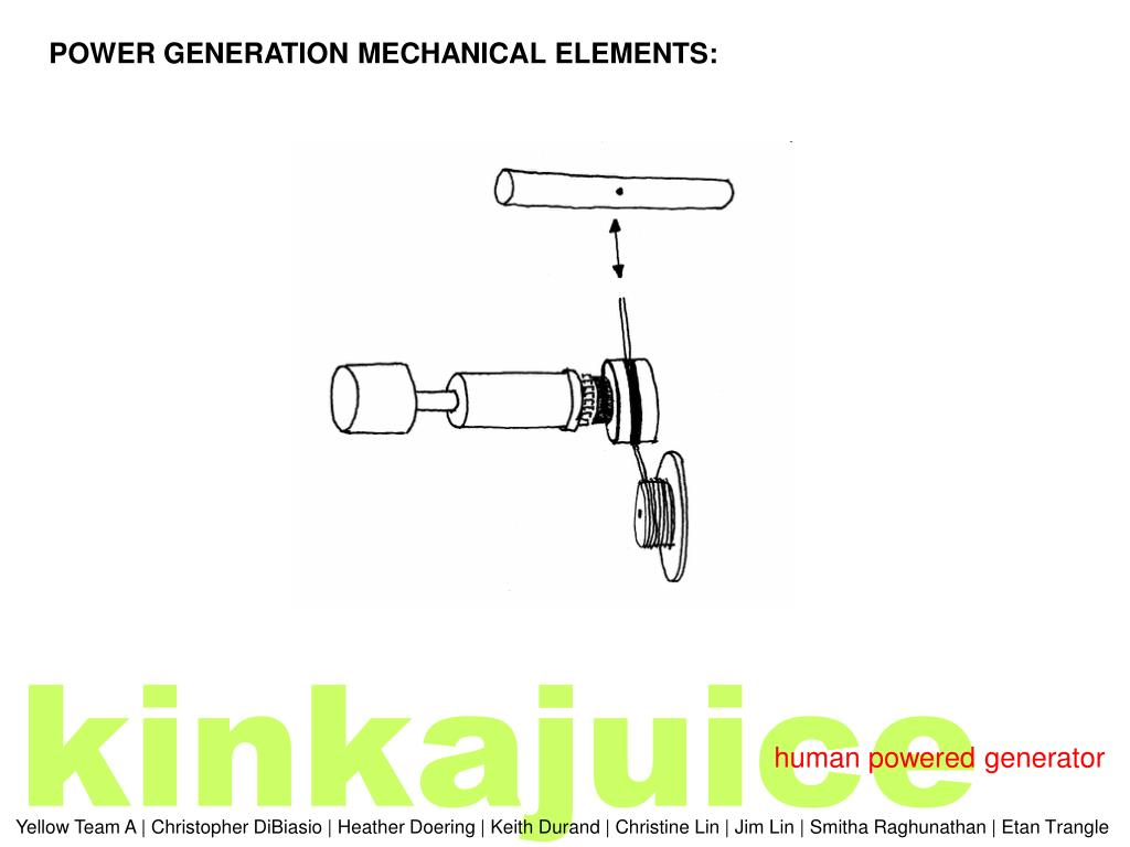 POWER GENERATION MECHANICAL ELEMENTS: