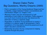 sharon daloz parks big questions worthy dreams 20002
