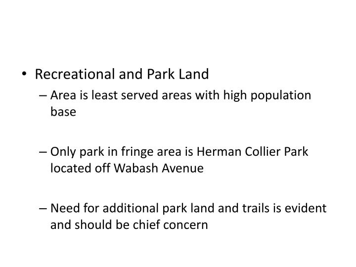 Recreational and Park Land