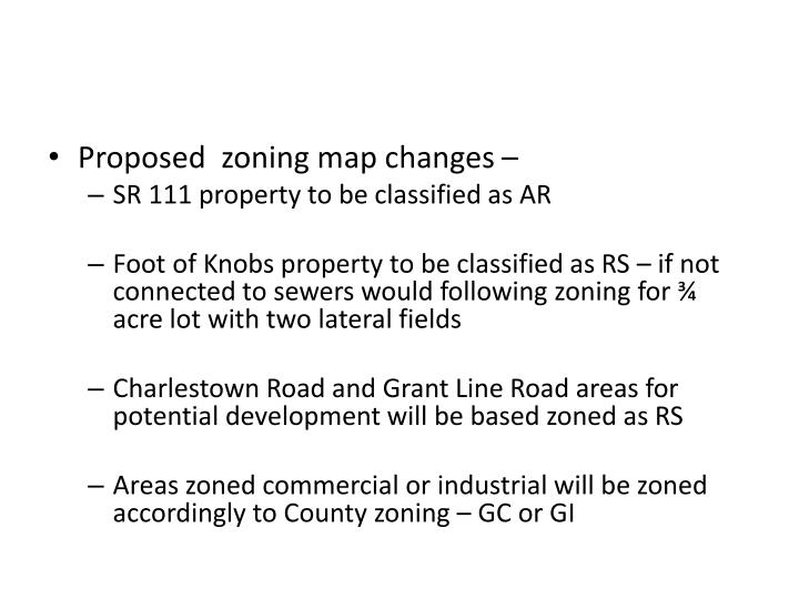 Proposed  zoning map changes –