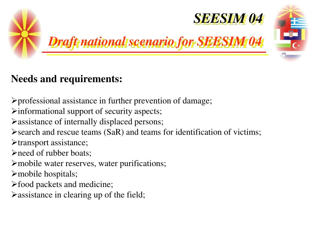 Needs and requirements