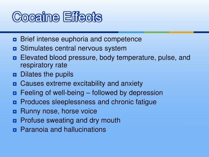 Cocaine Effects