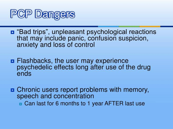 PCP Dangers