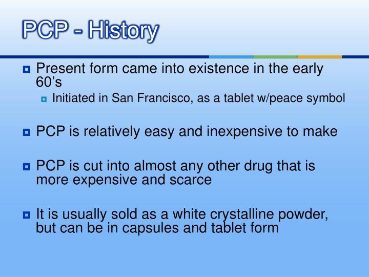 PCP - History