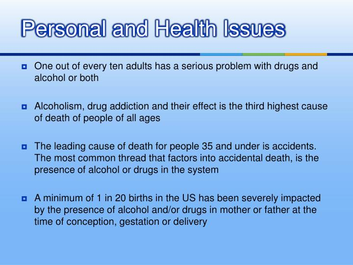Personal and Health Issues