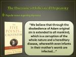 the doctrine of inherited depravity1