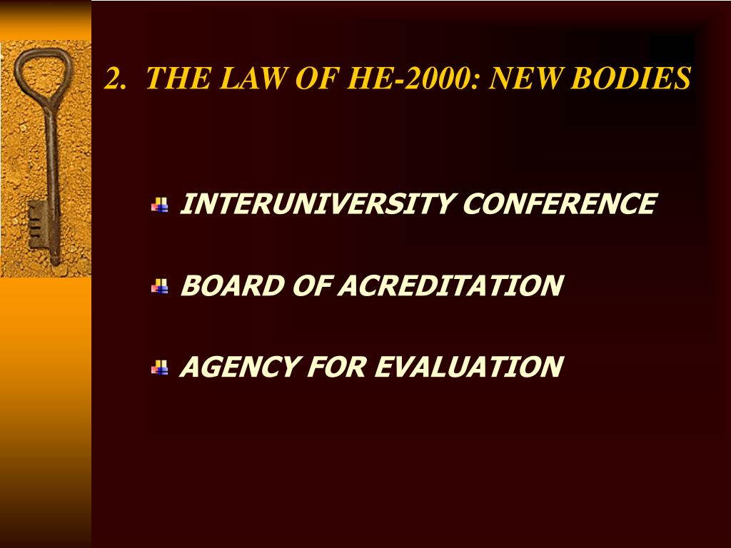 2.  THE LAW OF HE-2000: NEW BODIES