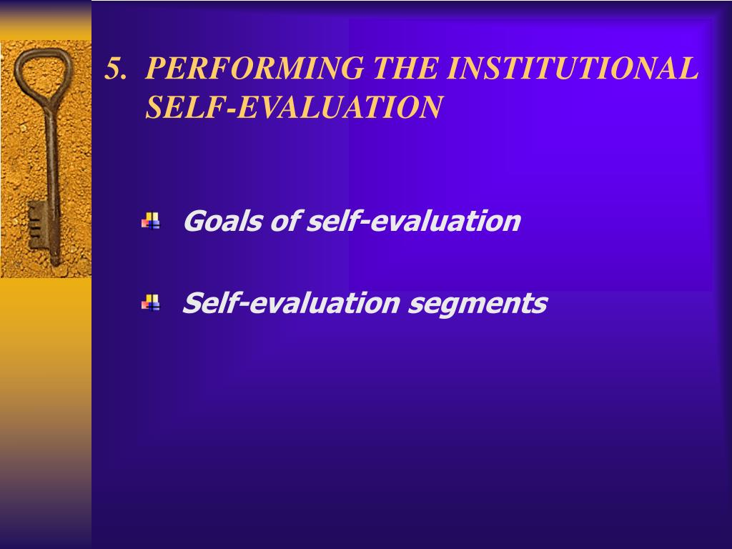 5.  PERFORMING THE INSTITUTIONAL