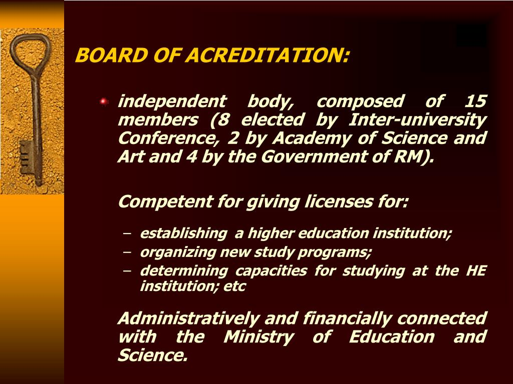 BOARD OF ACREDITATION: