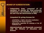 board of acreditation