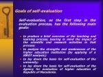 goals of self evaluation