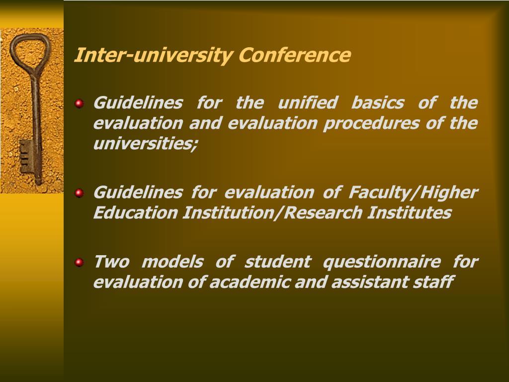 Inter-university Conference