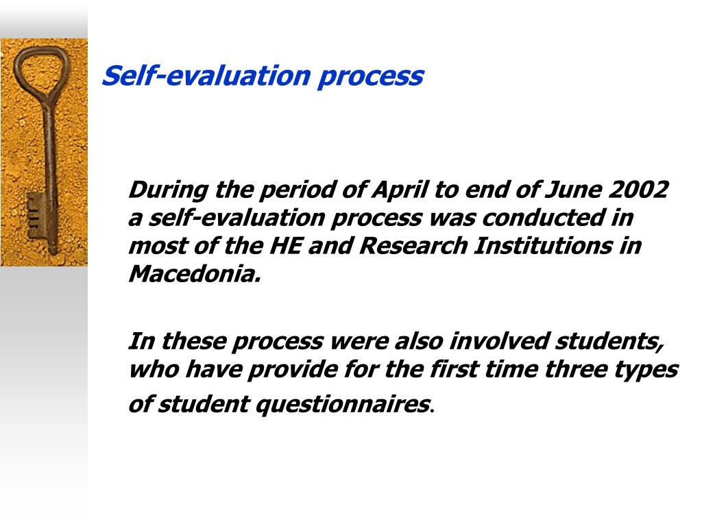Self-evaluation process