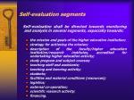 self evaluation segments