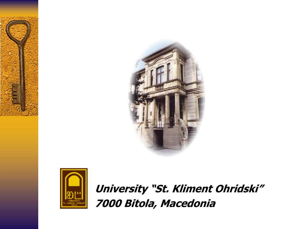 "University ""St. Kliment Ohridski"""