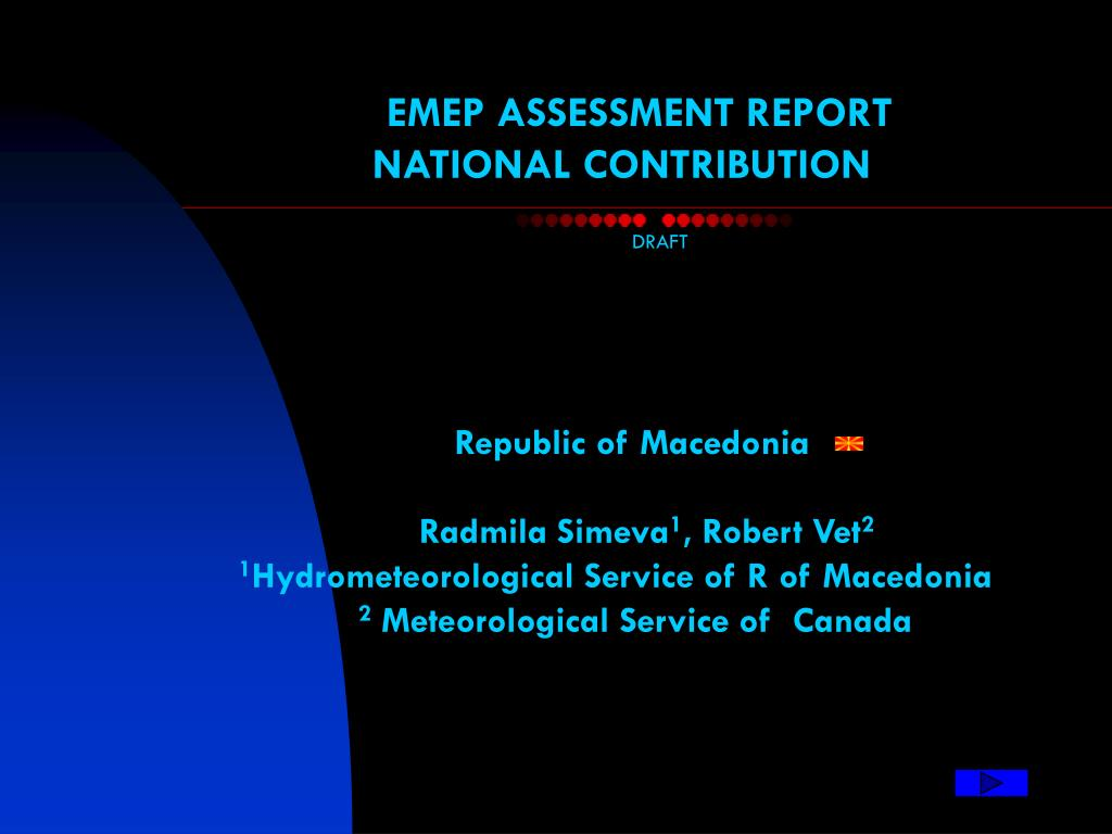 EMEP ASSESSMENT REPORT