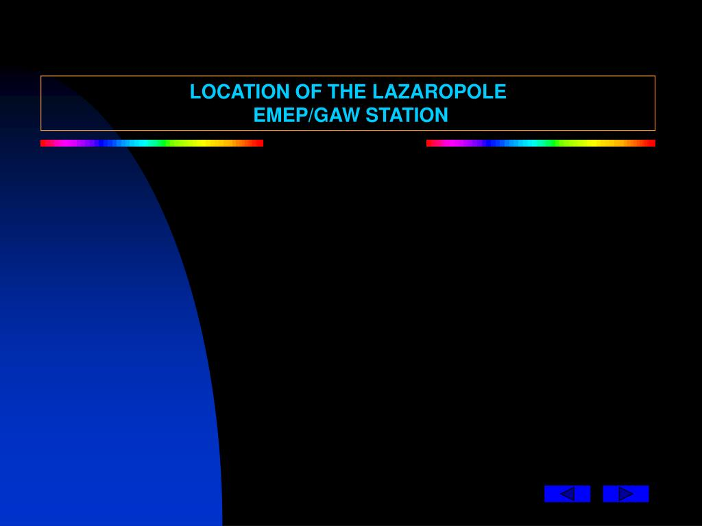 LOCATION OF THE LAZAROPOLE