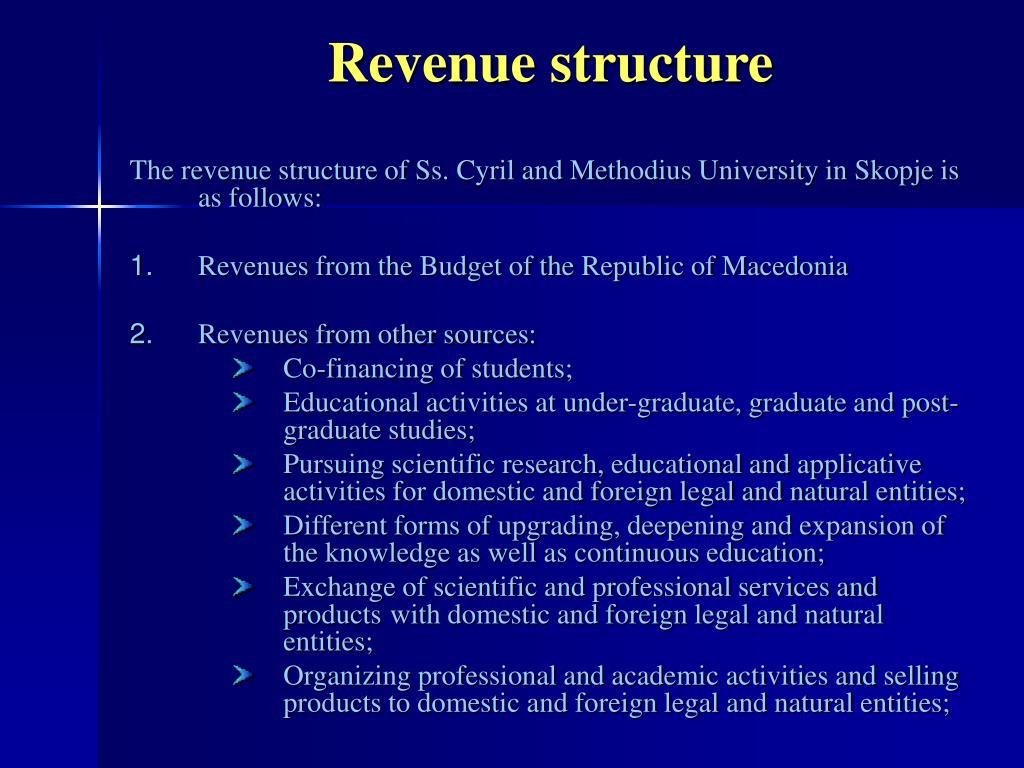 Revenue structure