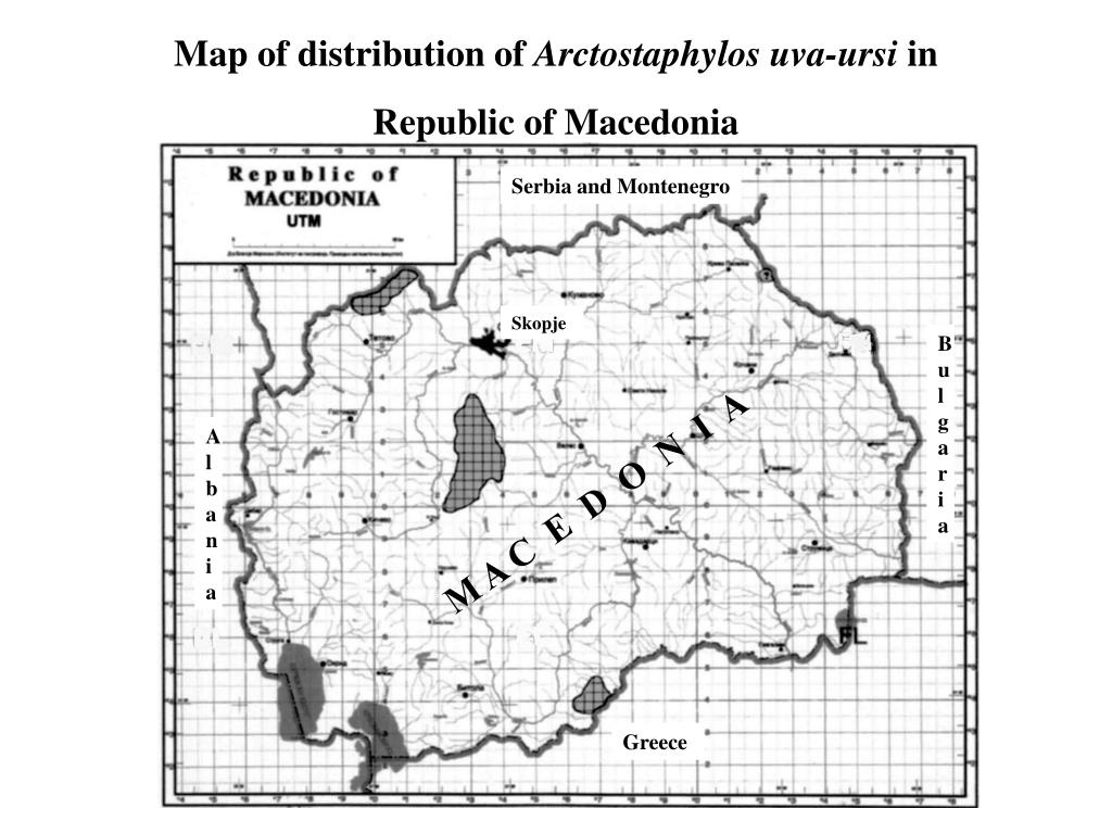 Map of distribution of