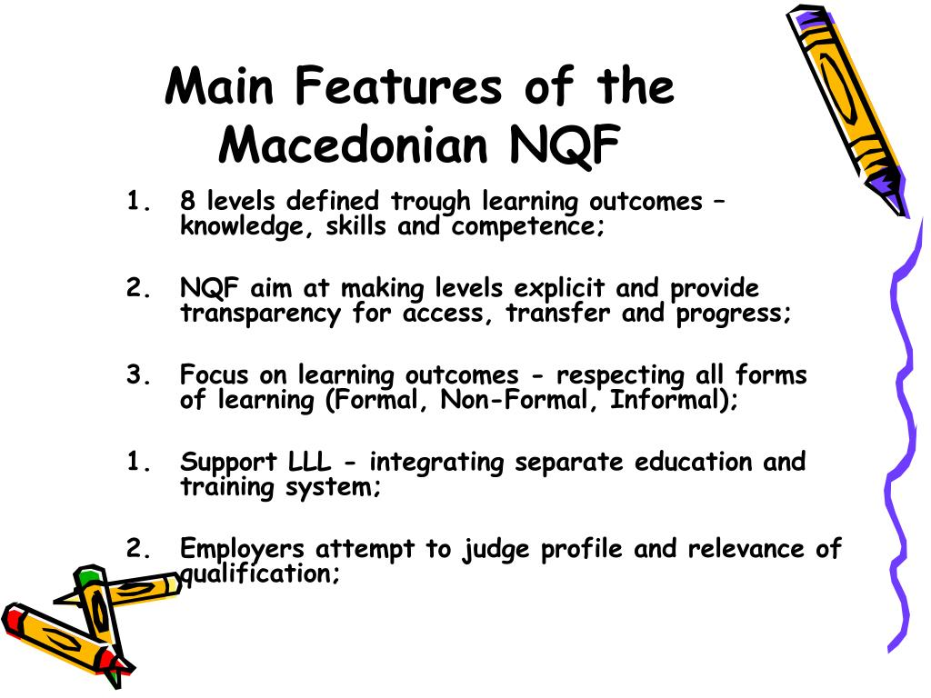 Main Features of the Macedonian NQF