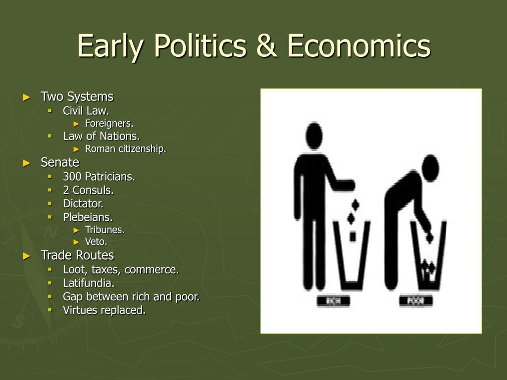 Early Politics & Economics