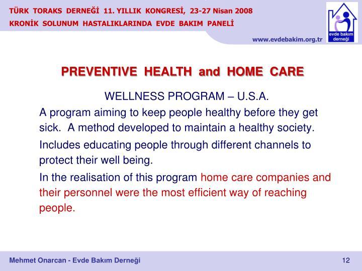WELLNESS PROGRAM – U.S.A.