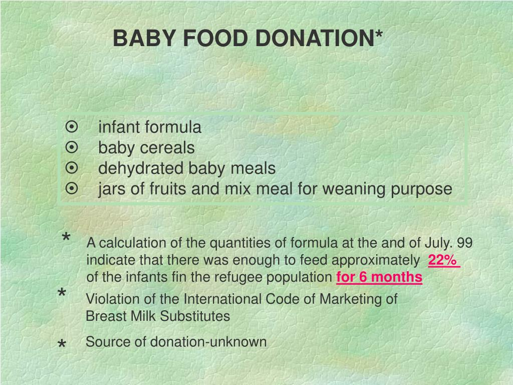 BABY FOOD DONATION*