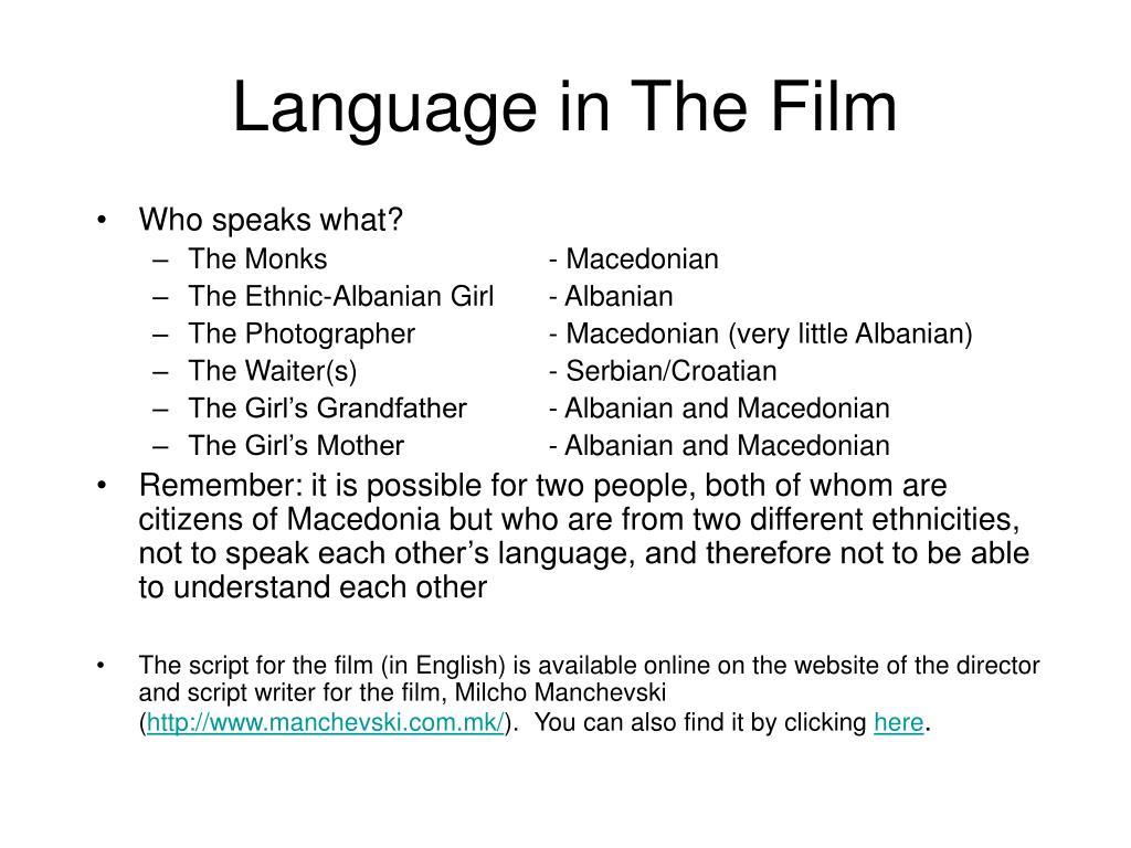 Language in The Film