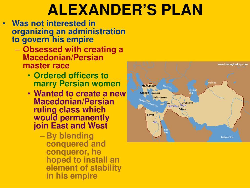 ALEXANDER'S PLAN